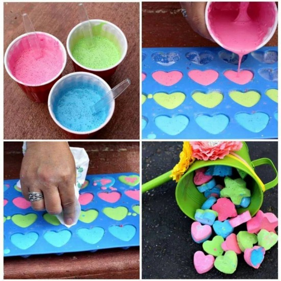 DIY Sidewalk Chalk wonderfuldiy Wonderful DIY Handmade Sidewalk Chalk