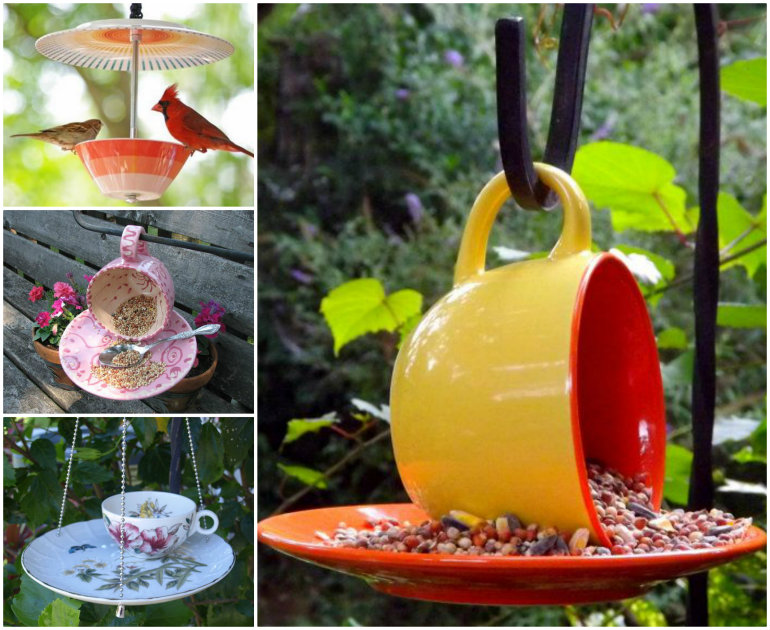 DIY Teacup Bird Feeders Wonderful DIY Beautiful Teacup Bird feeder