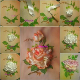 Wonderful DIY Pretty Embroidery Silk Ribbon Rose
