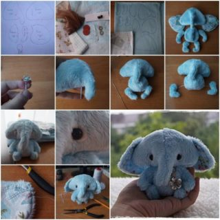 Wonderful DIY Cute Mini Fabric  Elephant