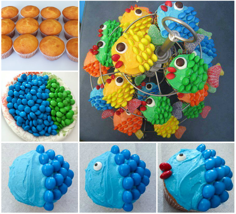 Fish Cupcakes DIY Wonderful DIY Cute Owl Cupcake