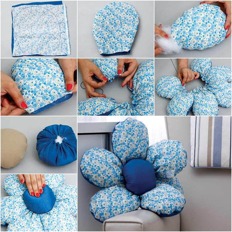 Wonderful DIY Flower Shaped Cushion
