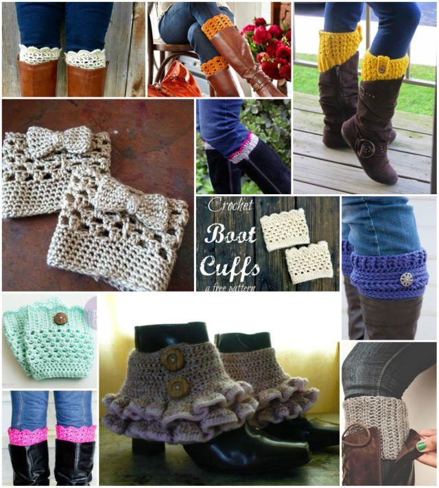 Free-Crochet-Boot-Cuffs-Patterns-wonderfuldiy