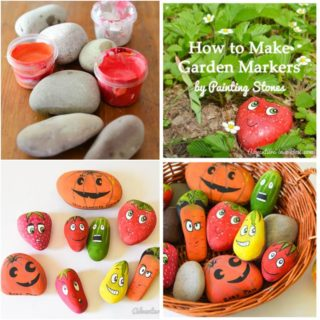 Wonderful DIY Cute Stone Markers For Garden