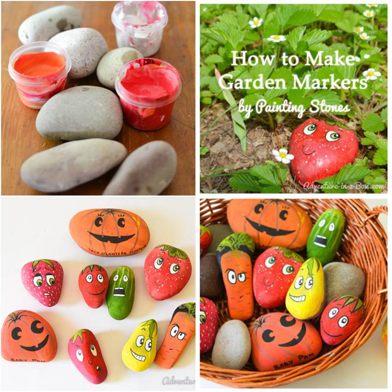 Making A Wonderful Garden Path Ideas Using Stones: Wonderful DIY Cute Stone Markers For Garden