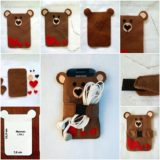 Wonderful DIY  Teddy Bear Cellphone Case