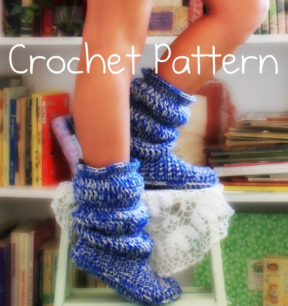 Diy Crochet Hollydoll Slipper Boots
