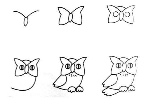 Wonderful idea for drawing easy animal figures for Drawing ideas for beginners step by step