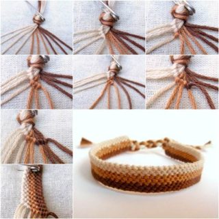 Wonderful DIY Simple Woven Bracelet