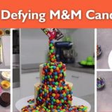 Gravity Defying M&M Candy Cake – So Easy, So Impressive