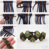 Wonderful DIY Unique Macrame Beaded Bracelet