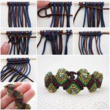 Wonderful DIY Unique Macrame Beaded Bracelet
