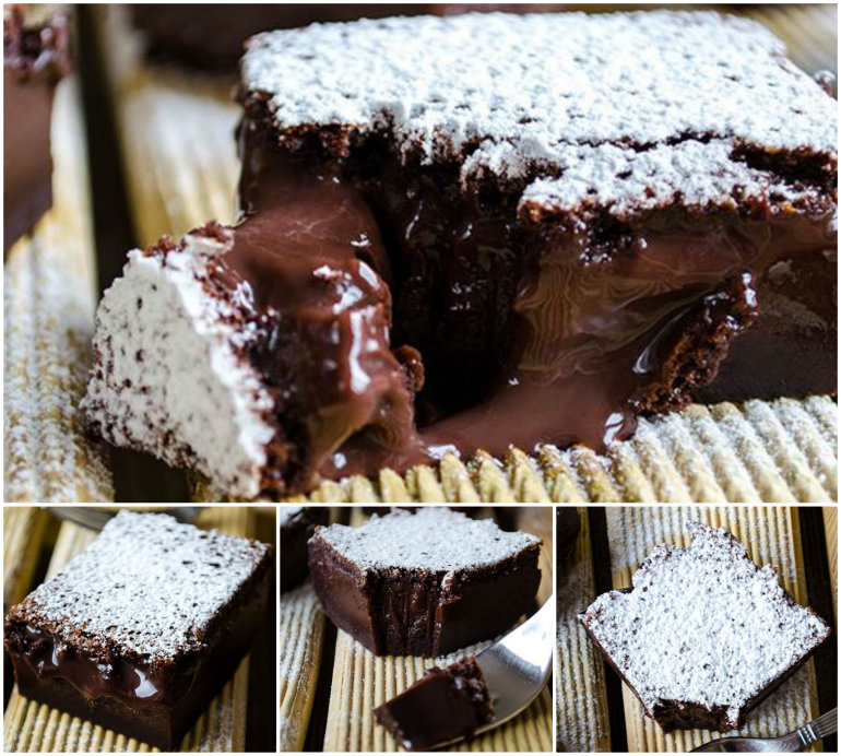 Magic Choclate Custard Cake DIY F Wonderful DIY Delicious Magic Chocolate Custard Cake
