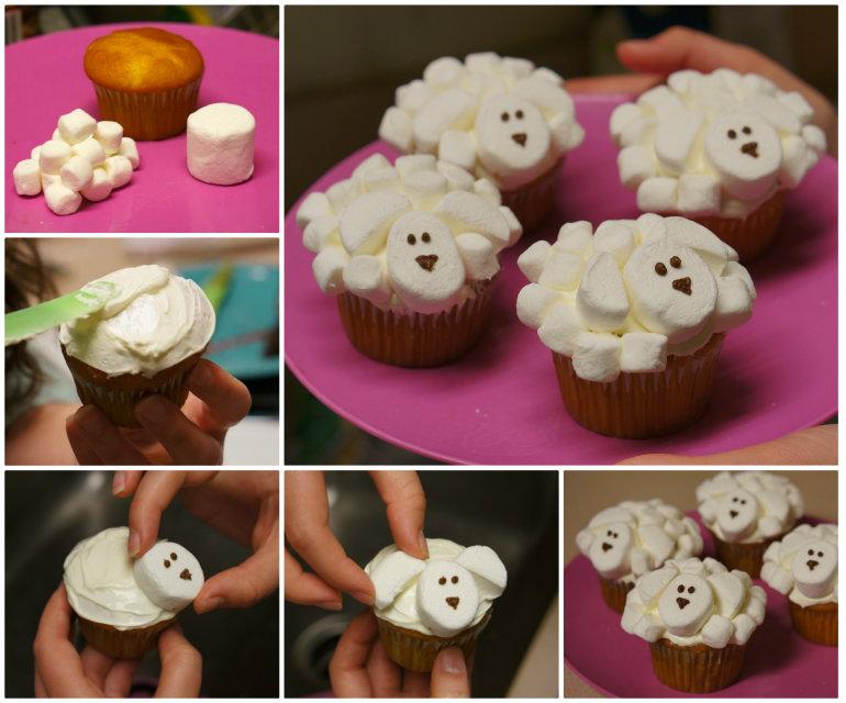 Marshmallow Sheep Cupcakes F