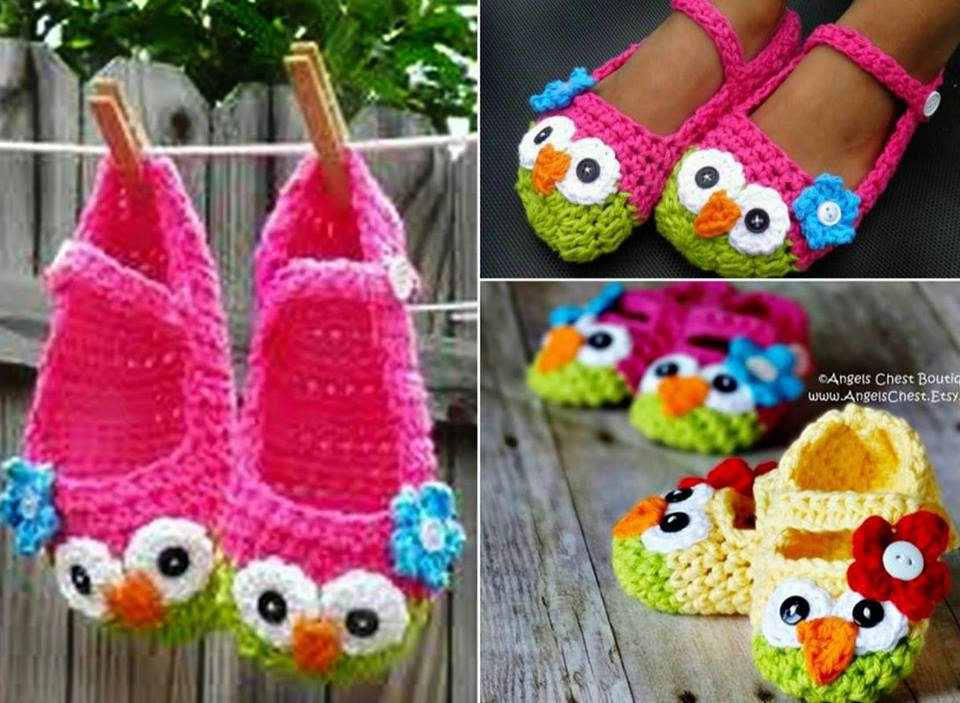 Mary Jane Owl Crochet Slippers Wonderful DIY Cute Crochet Owl  Slippers