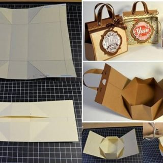 Wonderful DIY Mini Cardboard Gift Bag