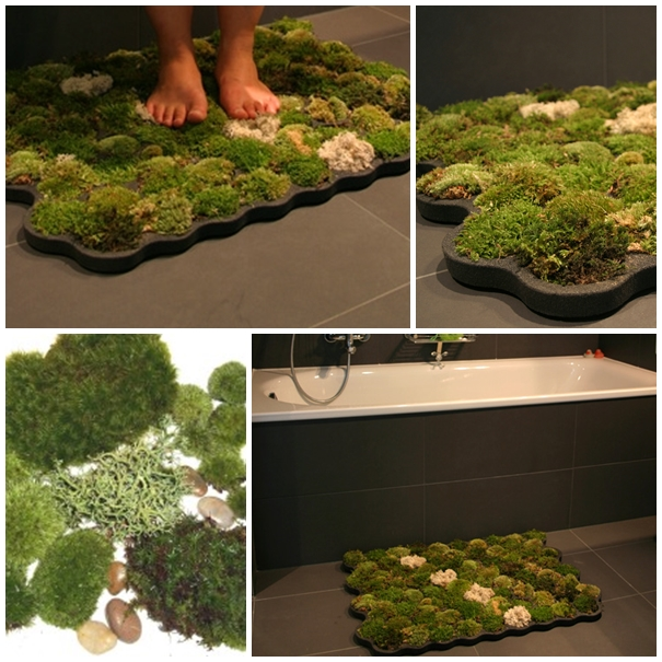 Moss Shower and Door Mats F3 Wonderful DIY Amazing Moss Shower Mat