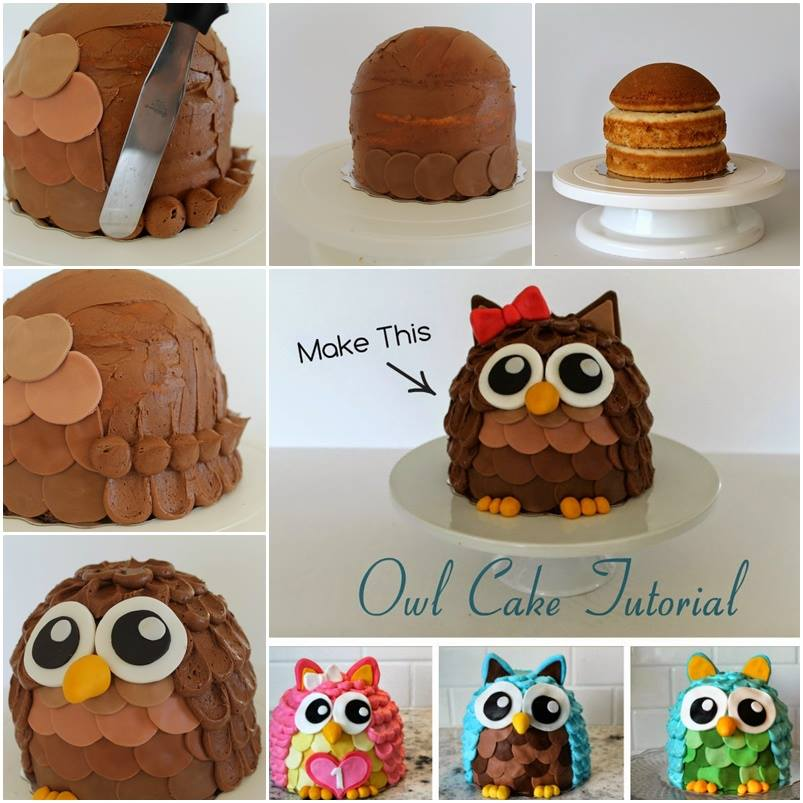 Owl Cake F2 Wonderful DIY Cute Owl Cookies With Big Eyes