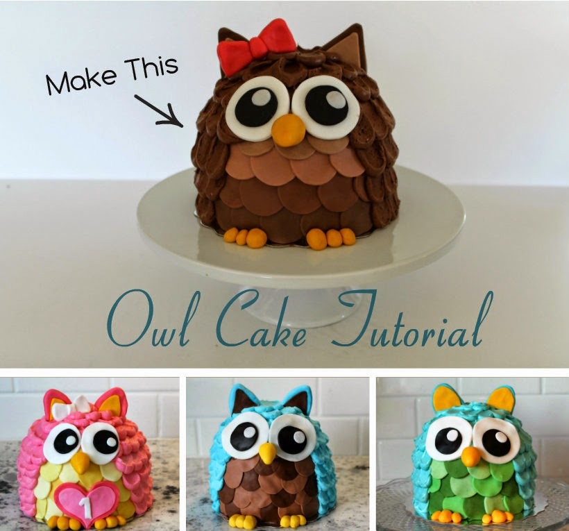 Owl Cake Tutorial Wonderful DIY Cute Owl Cake
