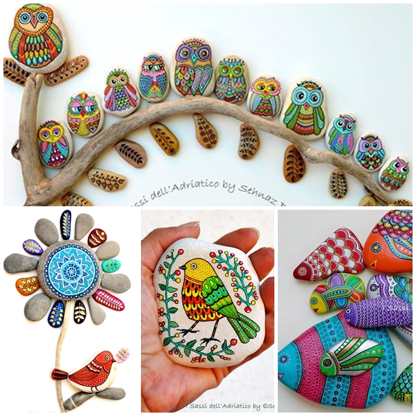 Wonderful ideas for painting stones and pebbles solutioingenieria