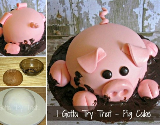 Pig Cake Tutorial wonderfuldiy Wonderful DIY Happy Pig in Mud Cake