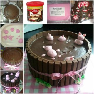 Wonderful DIY Happy Pig in Mud Cake