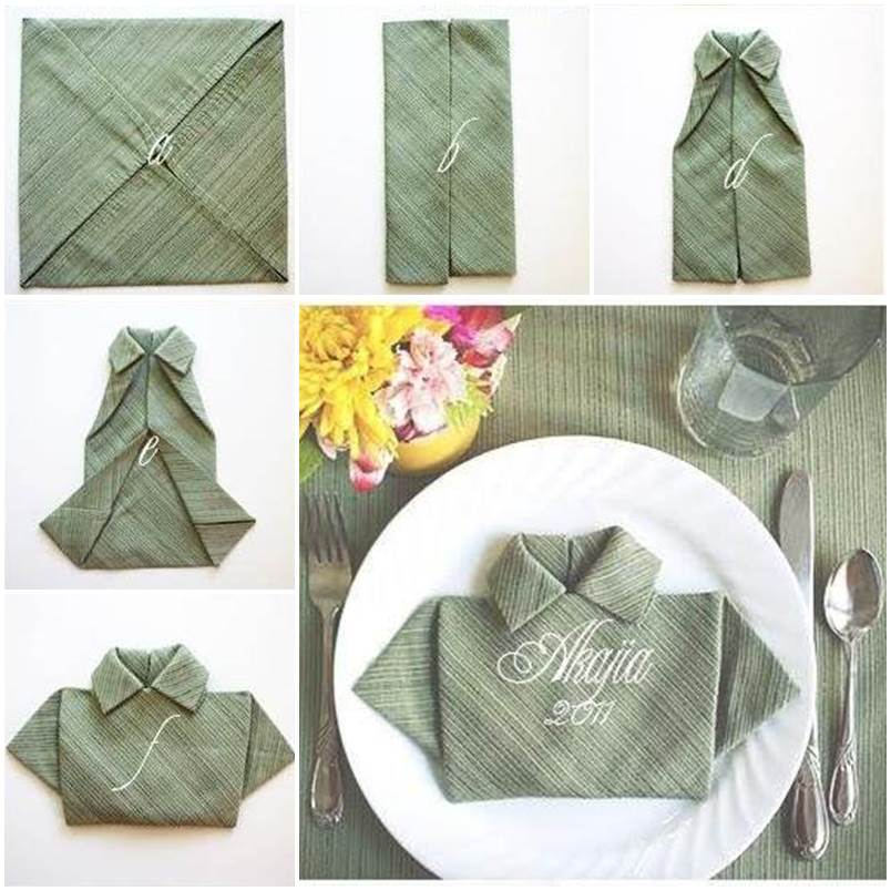 Polo Shirt Napkin f  Wonderful DIY  Unique Polo Shirt Napkin