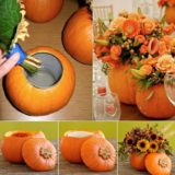 Wonderful DIY Unique Pumpkin Planter