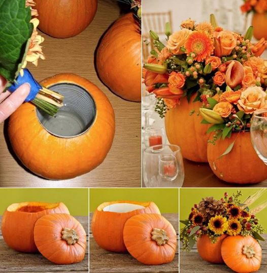 Wonderful diy unique pumpkin planter solutioingenieria Choice Image