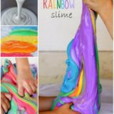 Wonderful DIY Homemade Rainbow Slime