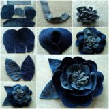 Wonderful DIY Beautiful Rose flower Out of Jeans