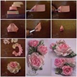 DIY Pretty Satin Ribbon Roses – Free Tutorial