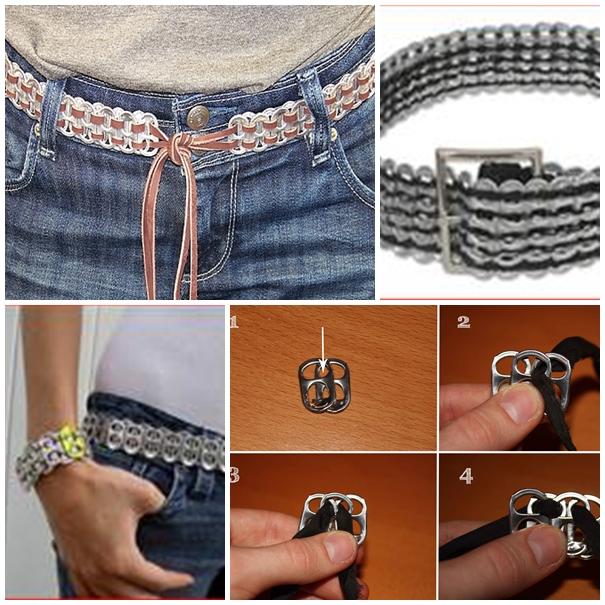 Soda Tab Belt f Wonderful DIY Cool Soda Pull Tab Belt