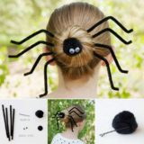 Wonderful DIY Halloween Spider Bun Hairstyle