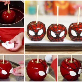 Wonderful DIY Cool Spiderman Candy Apples
