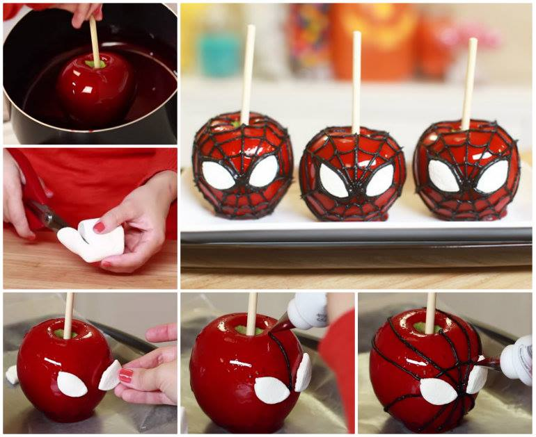 Spiderman-Caramel-Apples