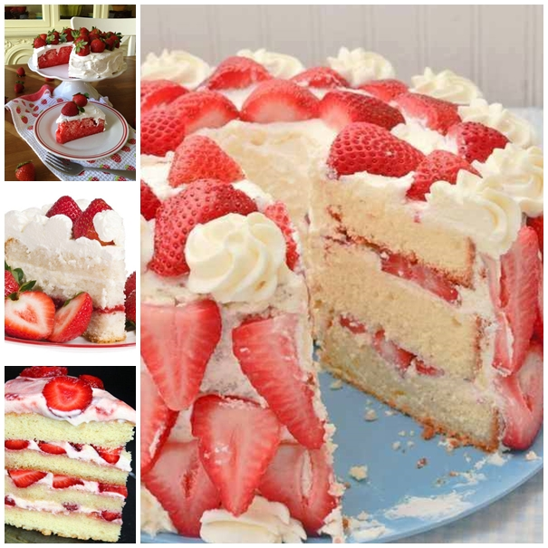 Strawberries And Cream Cakes wonderfuldiy Wonderful DIY Strawberry Creamy Cake