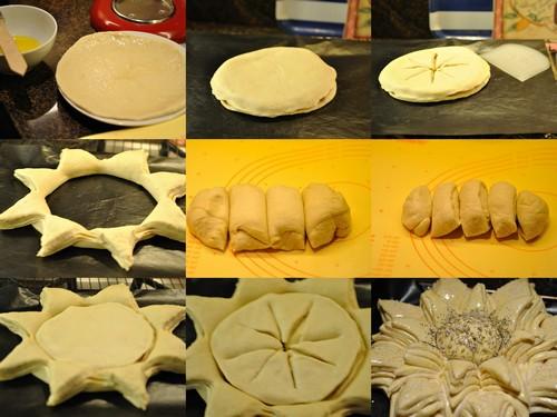 Sunflower bread 00 Wonderful DIY Beautiful Flower Shaped Bread