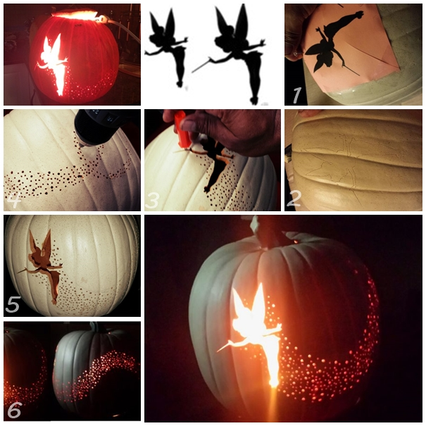 Tinkerbell Pumpkin Carving With Silhouette F