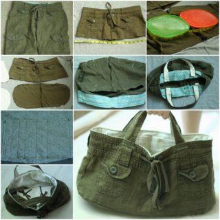 Wonderful DIY Tote Bag From Old Shorts