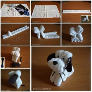 Wonderful DIY Adorable Towel Puppy