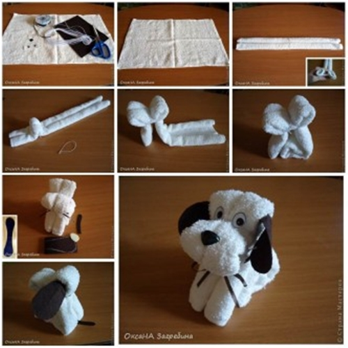 Towel Puppy F Wonderful DIY Adorable Towel Puppy