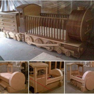 Wonderful DIY Amazing  Kids Train Bed