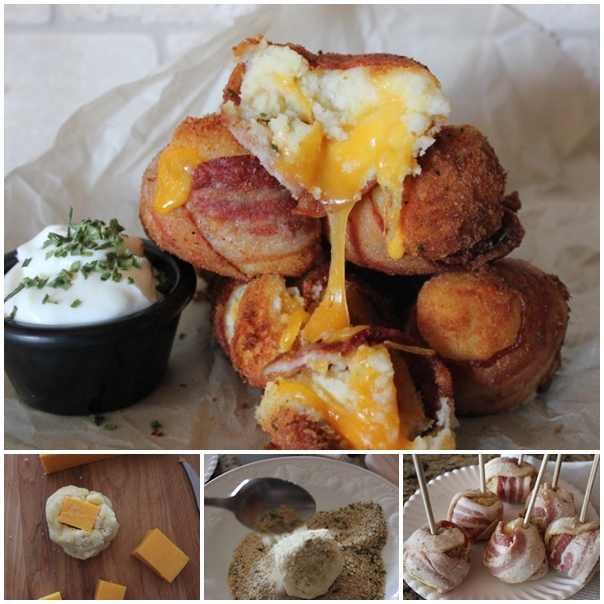 bacon wrapped mashed potato F Mouth Watering Bacon Wrapped Cheesy Mashed Potato Bombs