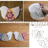 Wonderful DIY Cute Bird Potholder With Template