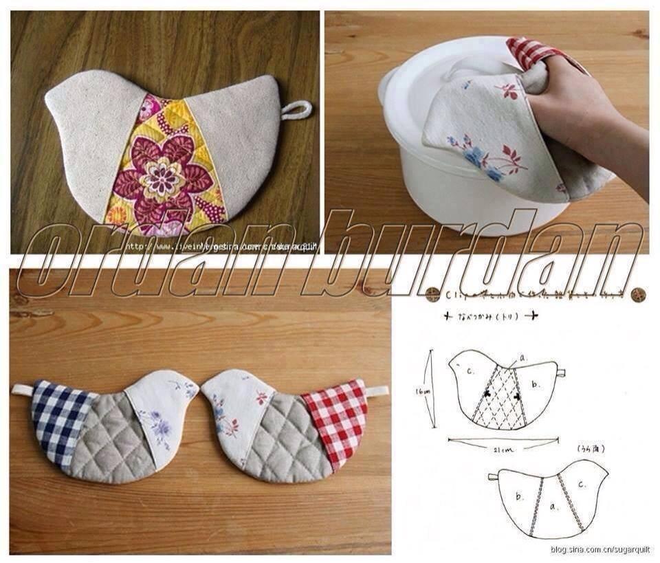 bird potholder DIY Wonderful DIY Cute Bird Potholder With Template
