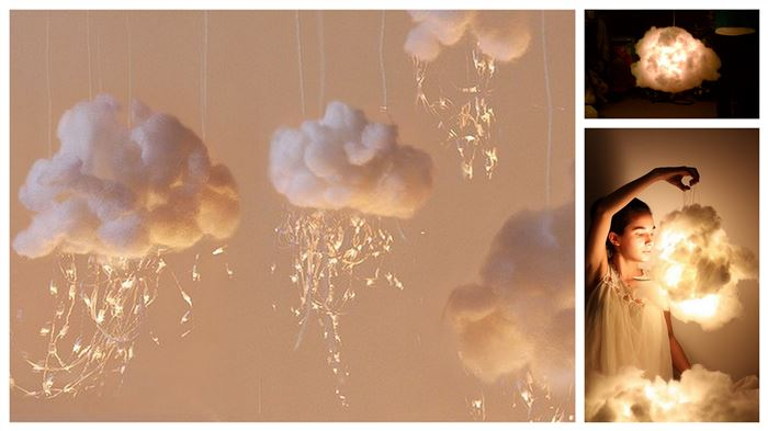 cloud lights decoration DIY Wonderful DIY Beautiful Cloud Lights Decoration