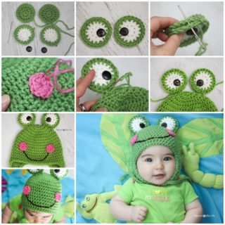 Wonderful DIY Cute Crochet Frog Hat With Free Pattern