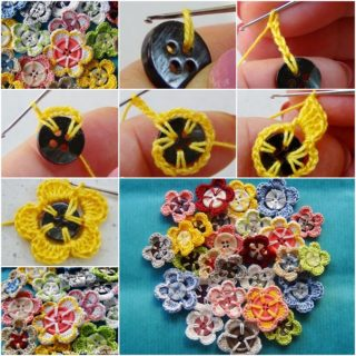 Simple Yet Stunning Crochet Button Flowers