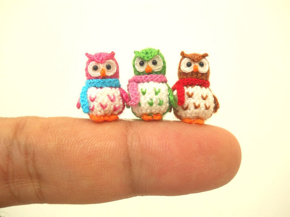 crochet delicate miniature owl Marvelous Mini Crochet Animals to Make Yourself